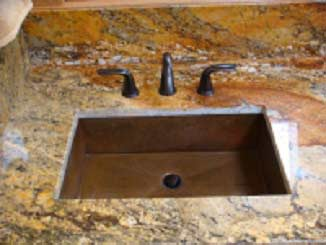 Copper lavatory sink