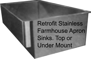 Retrofit farmhouse apron stainless kitchen sink