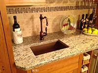 copper bar sink