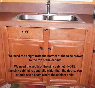 You Will Need To Provide The Following Information As Shown In Left Photo Order For Us Build A Sink Fit Your Existing Cabinetry
