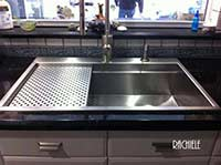 stainless steel workstation sink