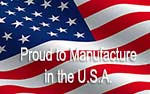 proud to manufacture in the U.S.A.