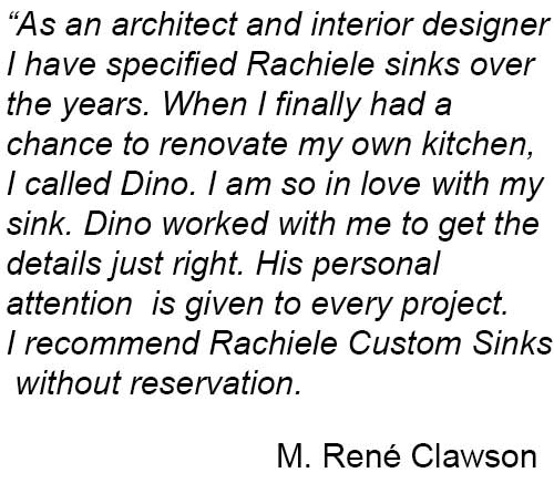 rachiele custom kitchen sink testimonial