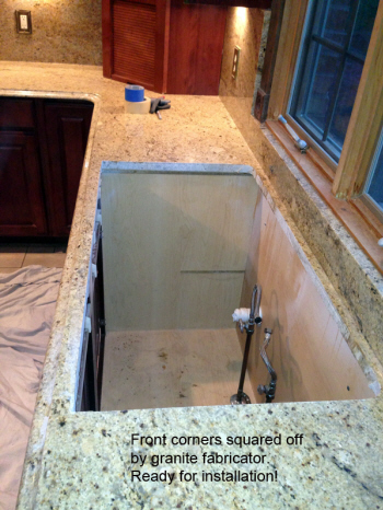 Countertop Preparation for retrofit sink install