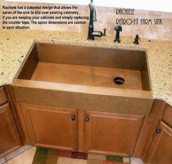 farmhouse sink installation in existing cabinet