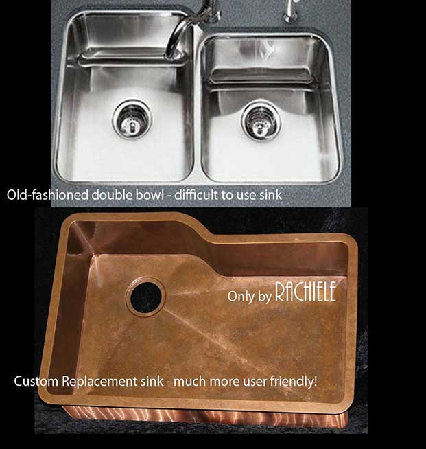 Replacement Custom Copper Sinks for Discontinued kitchen Sinks