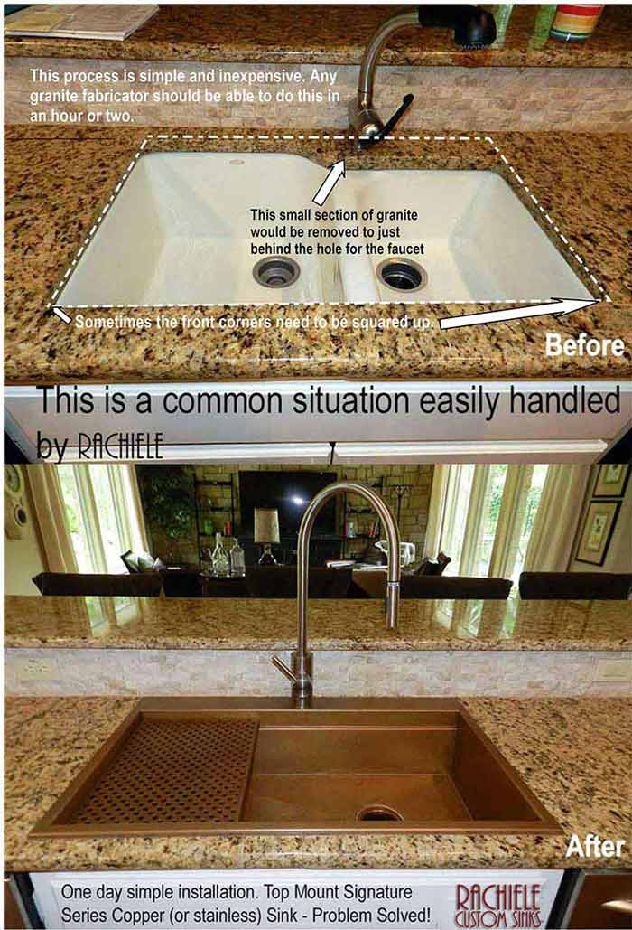 How to replace a discontinued sink