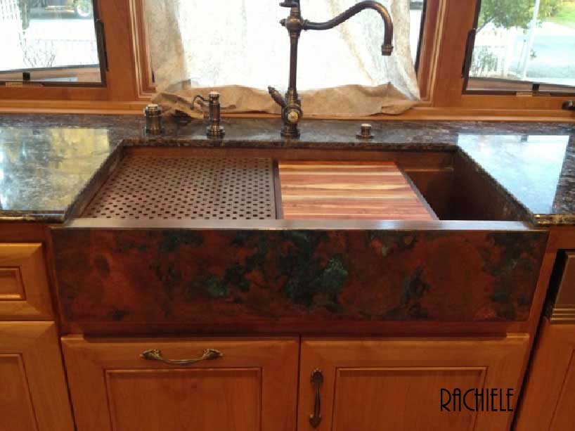 Corian apron 690 corian kitchen countertops for Rachiele sink complaints