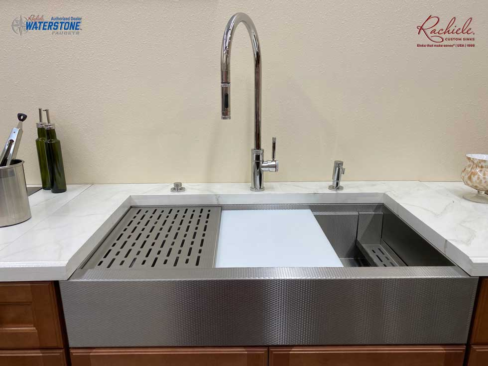 retrofit stainless short apron farmhouse sink to replace double bowl sink