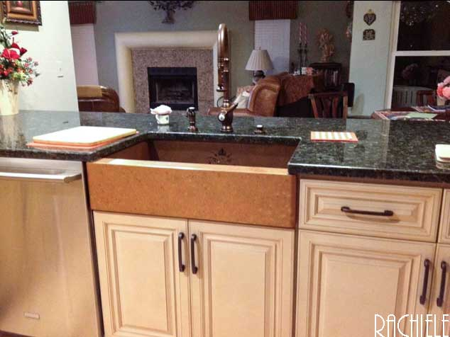 Retrofit Farmhouse Sink : The sink you see in this photo was our working kitchen sink that had ...