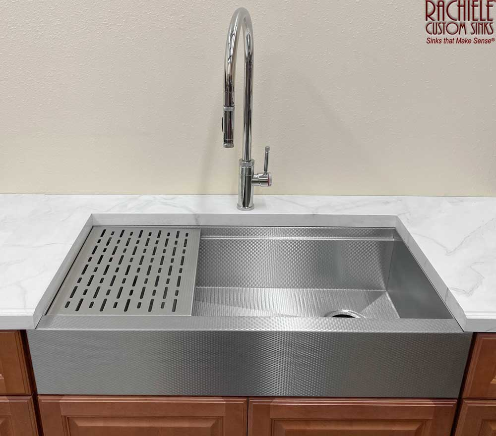 retrofit farm sink with shorter apron to fit existing cabinets