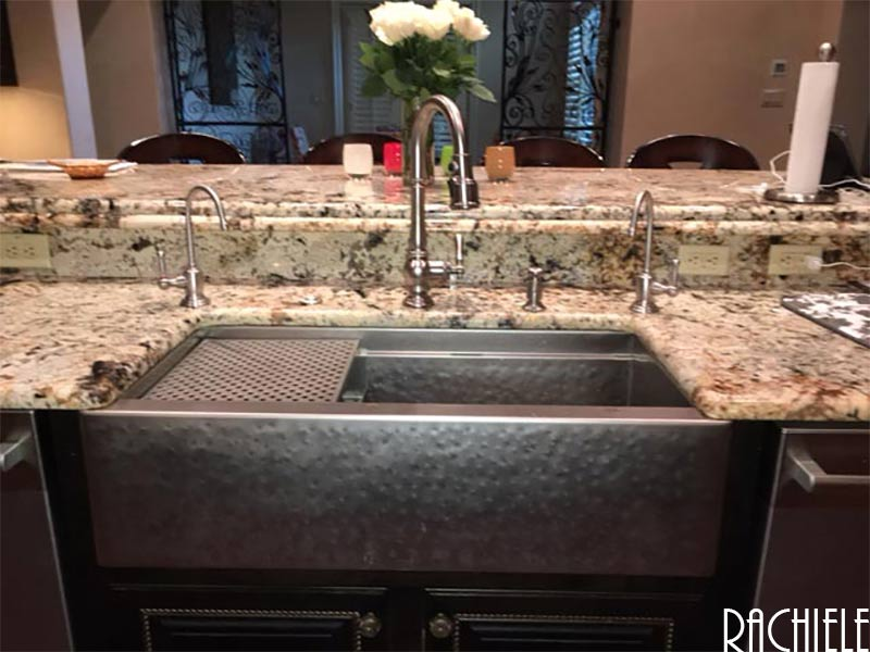 retrofit hammered stainless steel kitchen farmhouse apron front sink