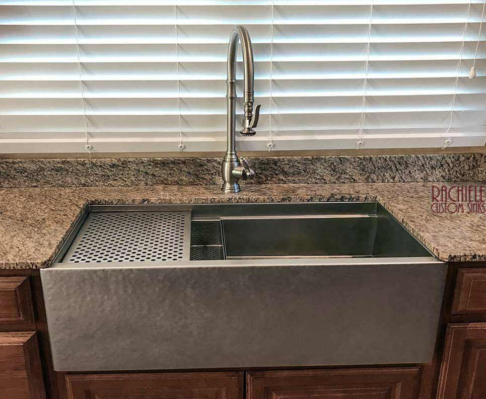 Stainless Steel Farmhouse Apron Front Workstation Sinks