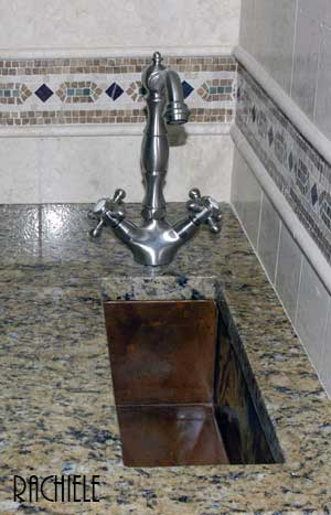 This Small Bar Sink Was Hammered And Used In An Hgtv Home As You Can See By The Choice Of Faucet Copper Goes Well With Silver Metals