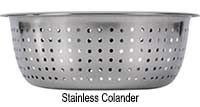 stainless colander for kitchen sink
