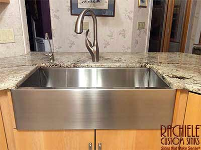 Image result for stainless steel farmhouse sink