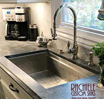 hammered stainless steel under mount sink
