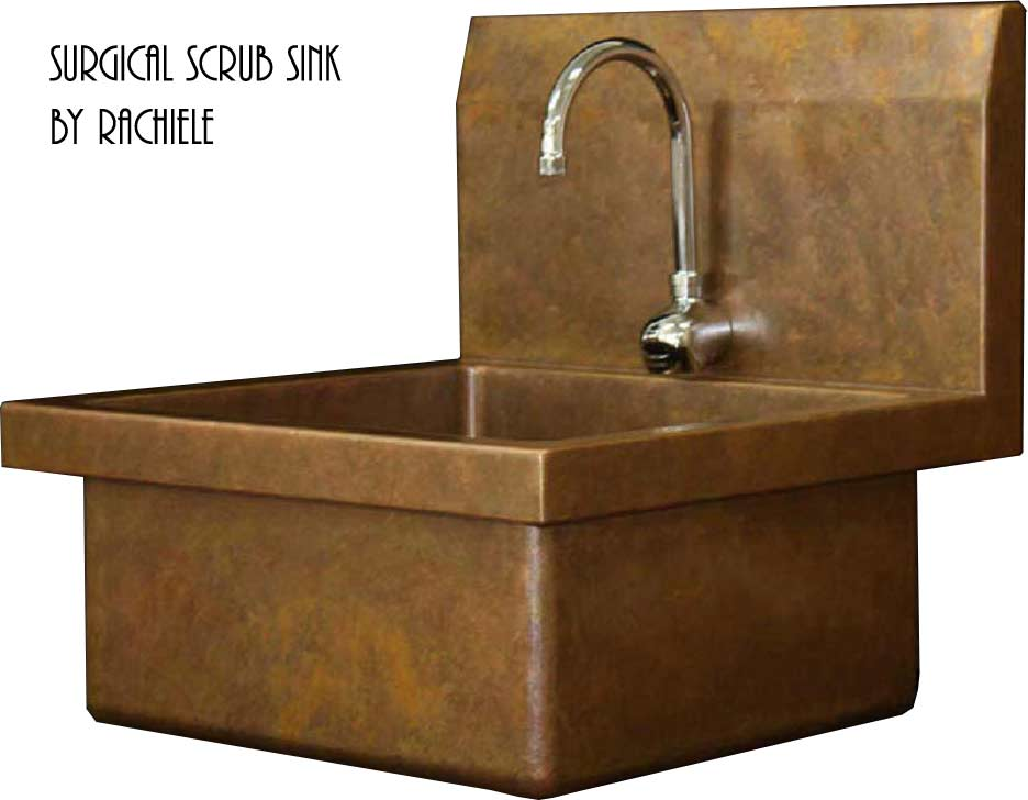 copper surgical scrub sink