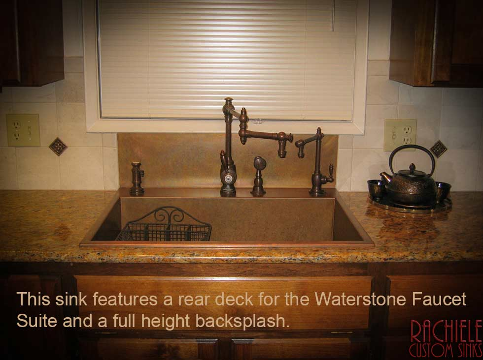 Copper Sinks With Integral Back Splashes By Rachiele