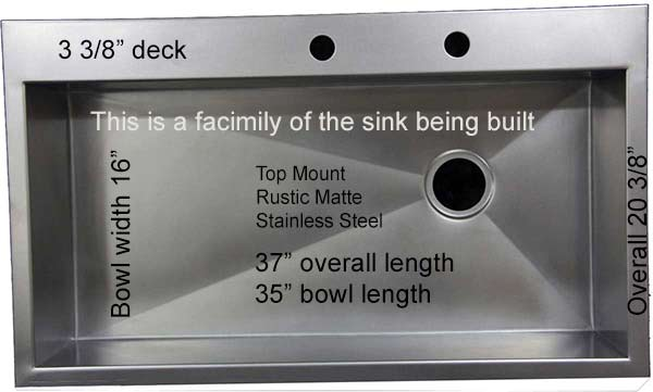 top mount stainless drop in sink on sale